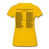 Black Lives Matter Women's Premium T-Shirt - sun yellow