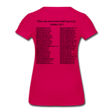 Black Lives Matter Women's Premium T-Shirt - dark pink