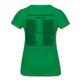 Black Lives Matter Women's Premium T-Shirt - kelly green