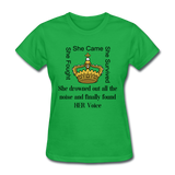 Found HER Voice Women's T-Shirt - bright green