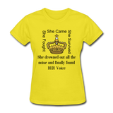 Found HER Voice Women's T-Shirt - yellow