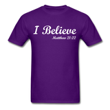 I Believe Unisex Classic T-Shirt - purple