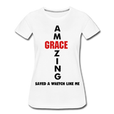 Amazing Grace Women's Premium T-Shirt - white