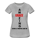 Amazing Grace Women's Premium T-Shirt - heather gray
