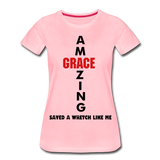 Amazing Grace Women's Premium T-Shirt - pink