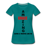 Amazing Grace Women's Premium T-Shirt - teal