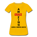 Amazing Grace Women's Premium T-Shirt - sun yellow