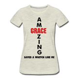 Amazing Grace Women's Premium T-Shirt - heather oatmeal