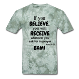 BAM Unisex Classic T-Shirt - military green tie dye