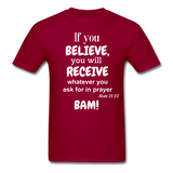 BAM Unisex Classic T-Shirt - dark red