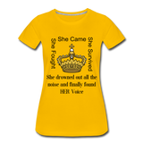 Found Her Voice Women's Premium T-Shirt - sun yellow