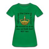 Found Her Voice Women's Premium T-Shirt - kelly green