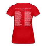 Black Lives Matter Women's Premium T-Shirt - red