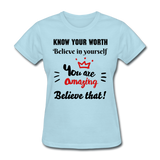 You Are Amazing Women's T-Shirt - powder blue