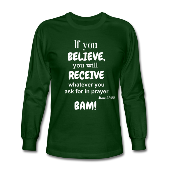 BAM Men's Long Sleeve T-Shirt - forest green