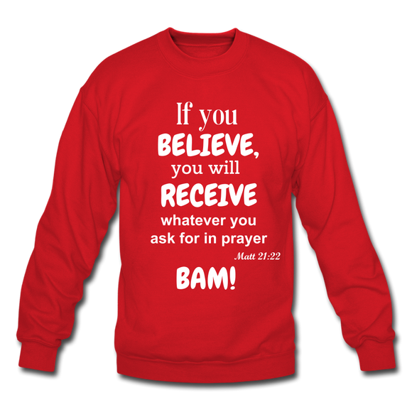BAM Unisex Crewneck Sweatshirt - red