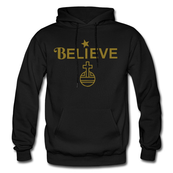 Believe Gildan Heavy Blend Adult Hoodie - black
