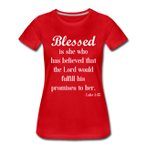Blessed Is She Women's Premium T-Shirt - red