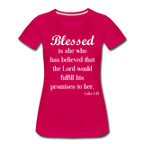 Blessed Is She Women's Premium T-Shirt - dark pink