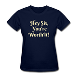 Hey SIs Women's Premium T-Shirt - navy