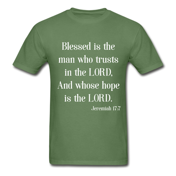Blessed Is The Man Men's Long Sleeve T-Shirt - military green