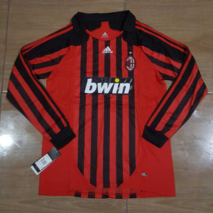 huge selection of 5f46a be663 2007/08 AC Milan Home Shirt Longsleeve – Classic Football Jersey
