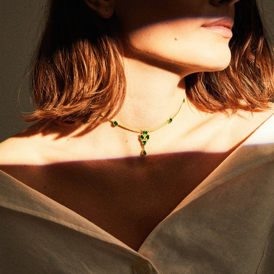 choker_emerald_goldplated_necklace_handmade_silver