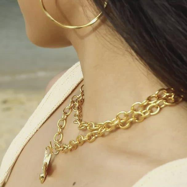Bird Double Chain Necklace
