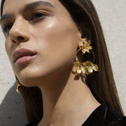Colombia earrings - Brass base plated with 24 Karat gold