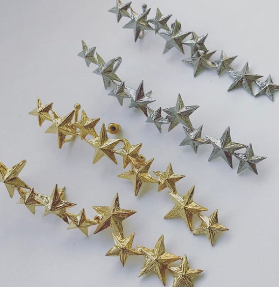 Star cuff earrings