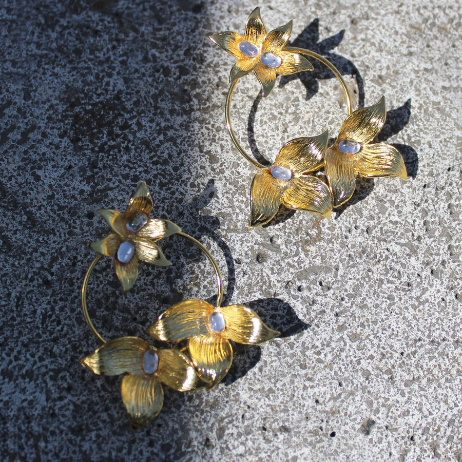 Colombia earrings with 24 Karat gold
