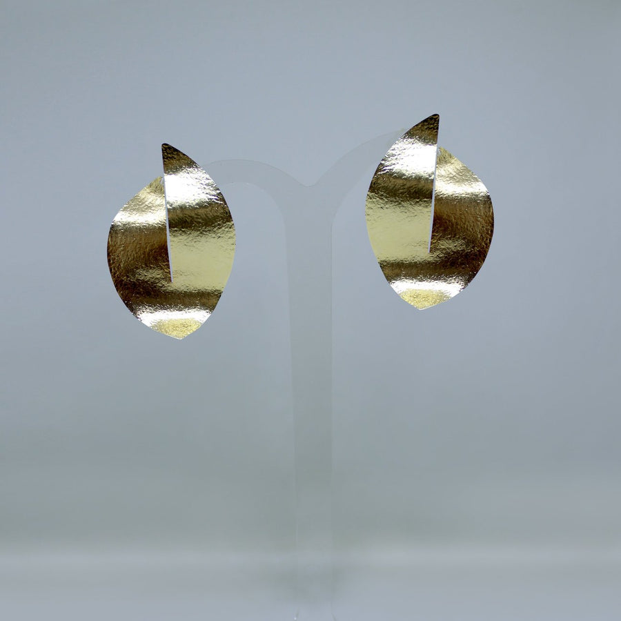 Desert dune earrings - 24 k gold plated - designed in London