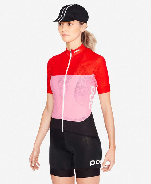 Essential Road Women's Light Jersey Prismane Red / Altair Pink
