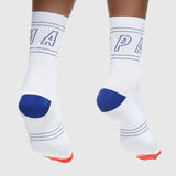 Outline Sock White