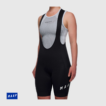Women's Team Bib Shorts 3.0 Black/ White