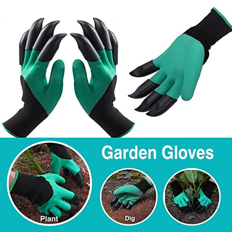 Protective Digging Gloves - Specially Made For Gardening [Both Left and Right Handed]