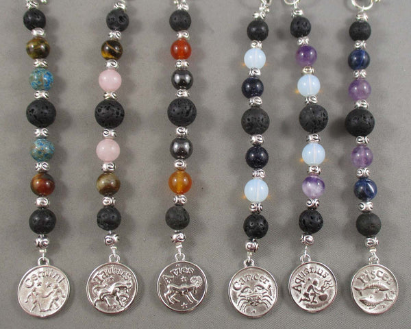 zodiac essential oil car charm diffusers