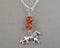 Lion Animal Totem Gemstone Pendant 1pc T840