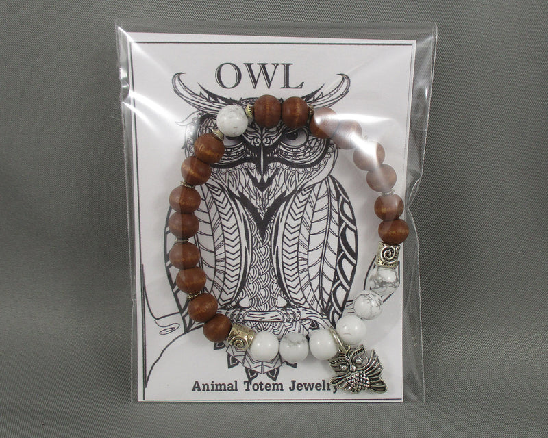 Owl Animal Totem Bracelet 1pc T824