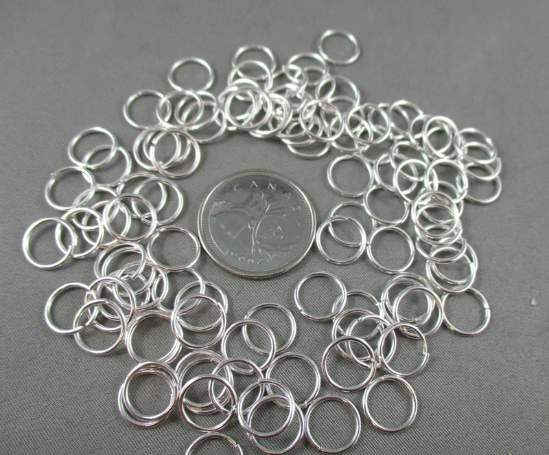 Jump Rings Silver Tone Various Sizes