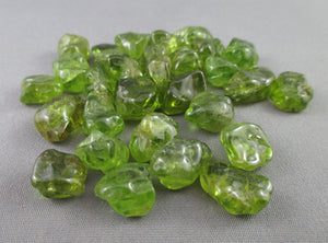 peridot polished stone