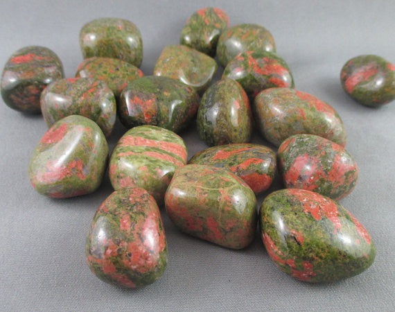 unakite polished stone