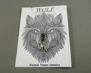 Wolf Animal Totem Gemstone Pendant 1pc T844