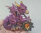 Large Purple Amethyst Dragon with Crystal 1pc R251