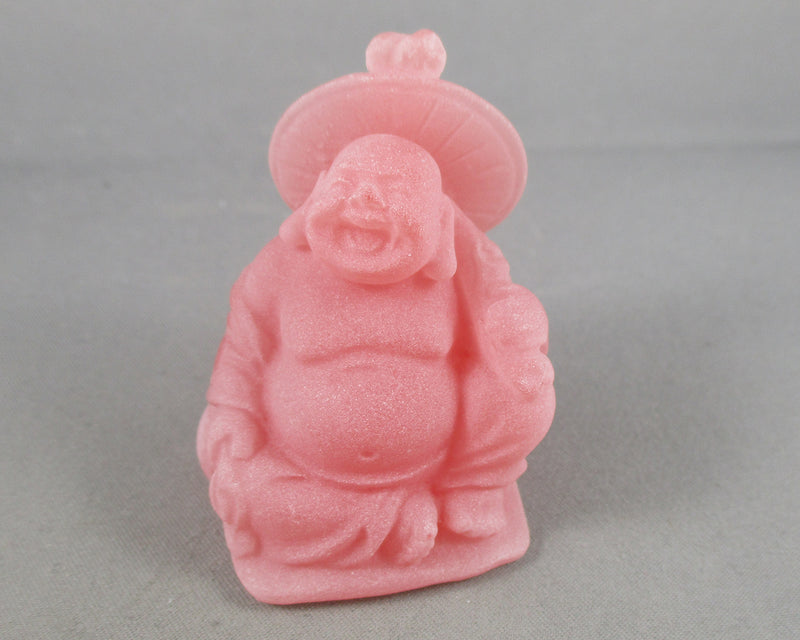 Red Frosted Buddha Statue 1pc Various Poses A242
