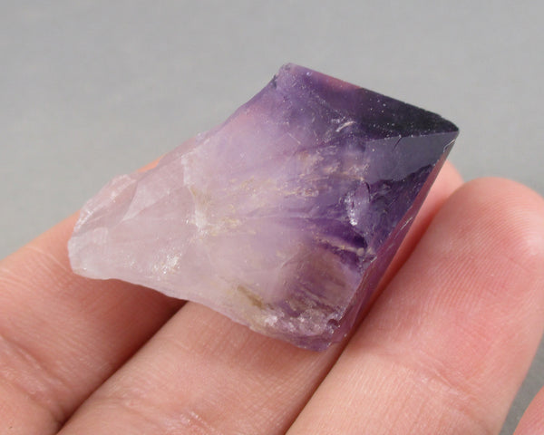 Bi-Color Amethyst Crystal Point 1pc B298-4