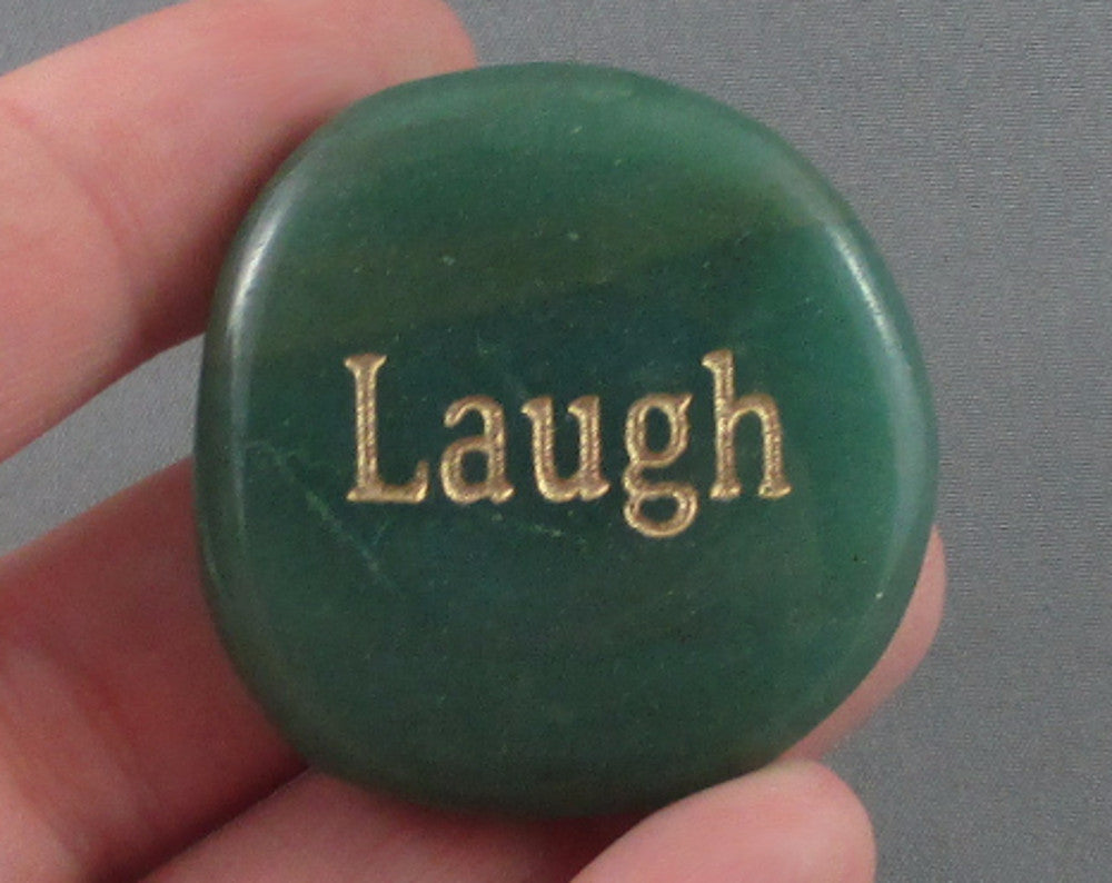 "Aventurine ""Laugh"" Word Stone 1pc B030-4"