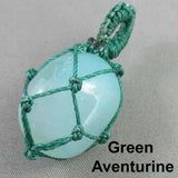 Gemstone Pendant Macrame Wrap 1pc R121