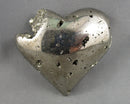 Gold Pyrite Heart 1pc B729-5