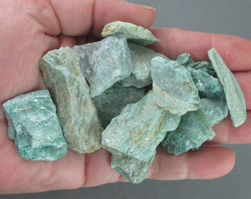 raw green fuchsite stone
